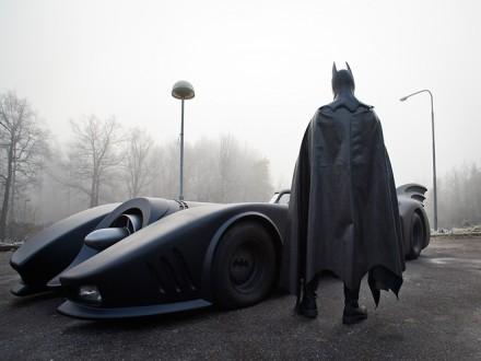 Leif Garvin har byggt en batmobil replika.