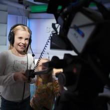 Två flickor i Studion
